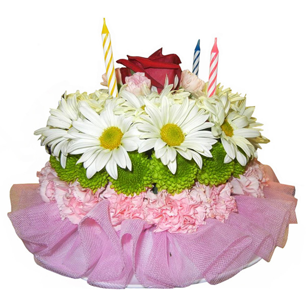 Flowery Wishes Flower Cake buy at Florist