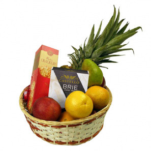 Fruit and Cheese Delight buy at Florist