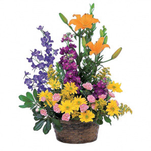 Basket of Mixed Flowers buy at Florist