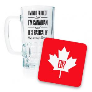 Canada Day Beer Mug and Coaster Set III