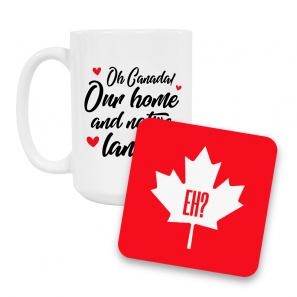 Canada Day Coffee Mug and Coaster Set I buy at Florist
