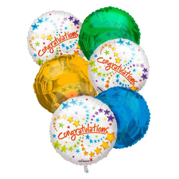 Congratulations Balloon Bouquet (6) buy at Florist