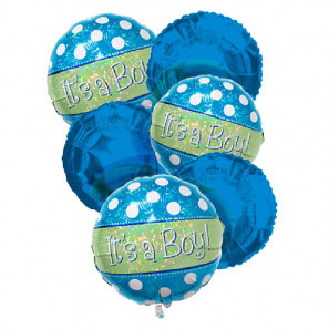 """It's a Boy"" Balloon Bouquet (6) buy at Florist"