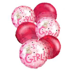 """""""It's a Girl"""" Balloon Bouquet (6)"""