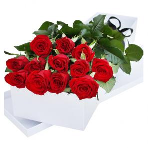 One Dozen Gift Boxed Roses
