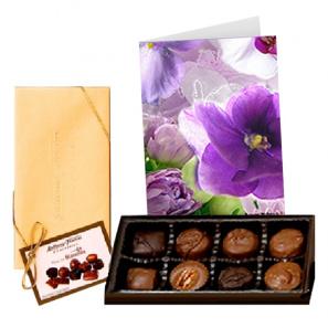 Premium Chocolates with Greeting Card
