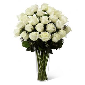 Two Dozen Long Stemmed White Roses