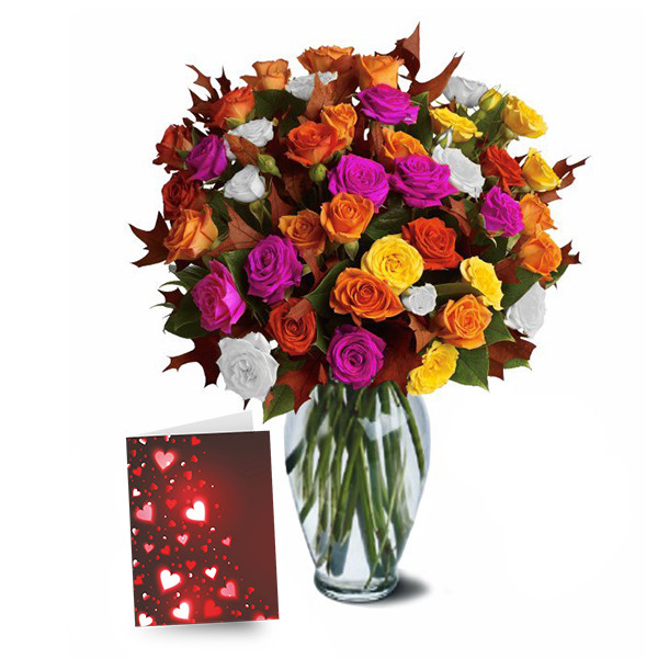 50 Blooms of Assorted Spray Roses buy at Florist