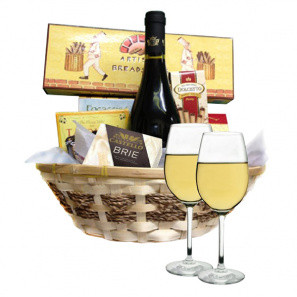 Classic White Wine Basket buy at Florist